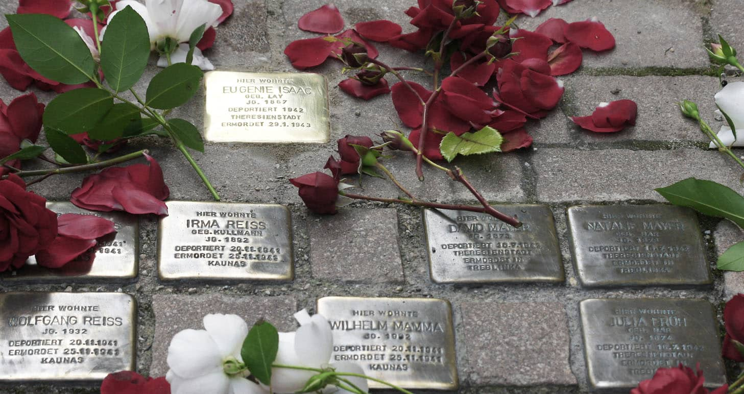 stolperstein no for antisemismus and holocaust
