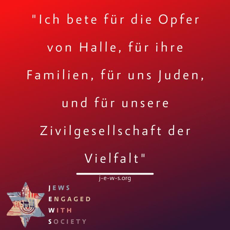 """Read more about the article Terry Swartzberg im ZDF: """"Ich bete für die Opfer von Halle, für ihre Familien, für uns Juden, und für unsere Zivilgesellschaft der Vielfalt"""""""