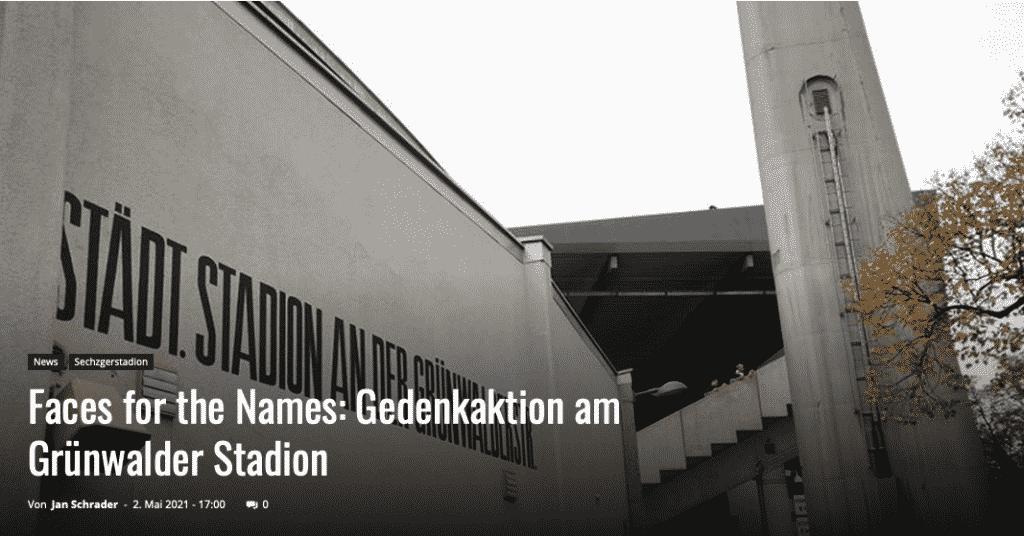 Faces for the Names: Gedenkaktion am Grünwalder Stadion