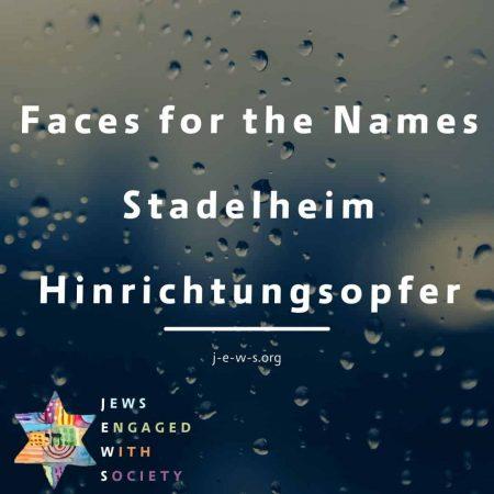 _Faces for the Names Stadelheim Hinrichtungsopfer